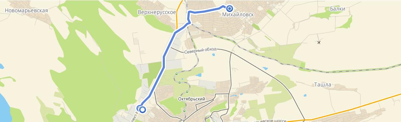 Ставрополь от цирка маршрутное